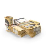 Korean Won Banknote Pile of Stacks PNG & PSD Images