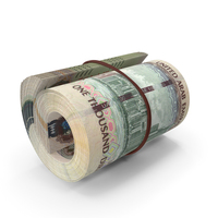 United Arab Emirates Dirham Banknote Roll PNG & PSD Images