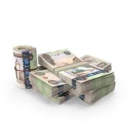 United Arab Emirates Dirham Banknote Pile of Stacks PNG & PSD Images