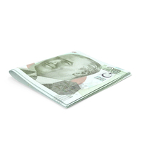 Turkish Lira Banknotes Small Folded Stack PNG & PSD Images