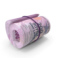 Turkish Lira Banknote Roll PNG & PSD Images