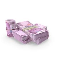 Turkish Lira Banknote Pile of Stacks PNG & PSD Images