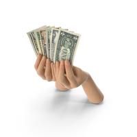 Hands Holding Dollar Banknote Bills PNG & PSD Images