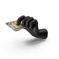 Glove Holding a Folded Dollar Stack PNG & PSD Images