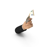 Suit Hand Holding Euro Banknote Bill PNG & PSD Images