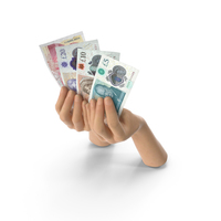Hands Holding UK Pound Banknote Bills PNG & PSD Images