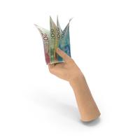 Hand Holding Israeli New Shekel Banknote Bills PNG & PSD Images