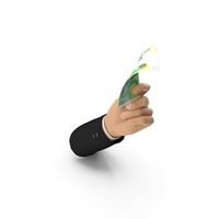 Suit Hand Holding a 50 Israeli Shekel Banknote Bill PNG & PSD Images
