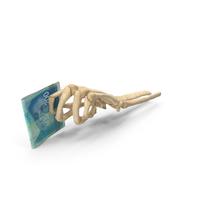 Skeleton Hand Holding 200 Israeli Shekel Banknotes PNG & PSD Images