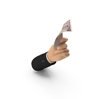 Suit Hand Holding a Japanese Yen Banknote Bill PNG & PSD Images