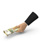 Suit Hand Holding a Swiss Franc Banknote Bills Stack PNG & PSD Images