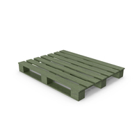 Wooden Pallet Green PNG & PSD Images