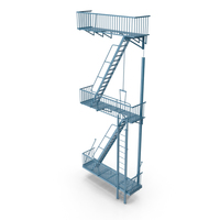 Fire Escape Stairs PNG & PSD Images
