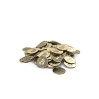 Bitcoin Pile PNG & PSD Images