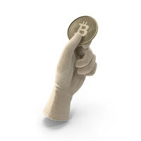 Glove Holding a Bitcoin PNG & PSD Images