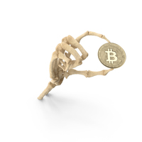 Skeleton Hand Holding a Bitcoin PNG & PSD Images