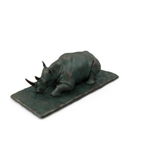 Sculpture Sleeping Rhino PNG & PSD Images