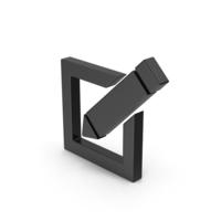 Black Symbol Note PNG & PSD Images