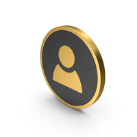 Gold Icon People/Name PNG & PSD Images
