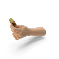 Hand Holding a Golden Medallion Coin PNG & PSD Images