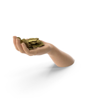 Hand Handful with Gold Coins PNG & PSD Images