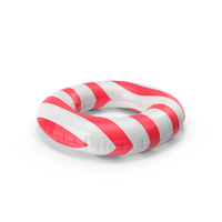 Pool Tubes with Red Striped Print PNG & PSD Images