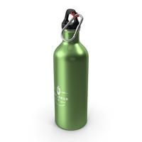 Aluminium Sports Bottle Green PNG & PSD Images
