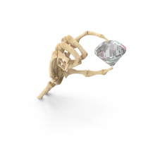 Skeleton Hand Holding a Diamond PNG & PSD Images