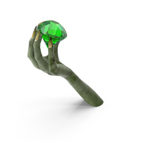 Creature Hand Holding an Emerald PNG & PSD Images
