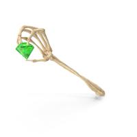 Skeleton Hand Holding an Emerald Gem PNG & PSD Images