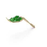 Skeleton Hand Handful with Emerald Gems PNG & PSD Images