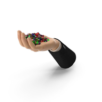 Suit Hand Handful with Mixed Gems PNG & PSD Images