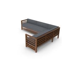 Corner Wood Outdoor Sofa PNG & PSD Images