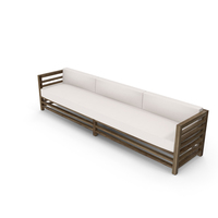 3 Seater Wood Outdoor Sofa PNG & PSD Images