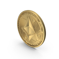Ethereum Gold Coin PNG & PSD Images