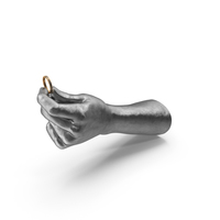 Silver Hand Holding Gold and Silver Ring PNG & PSD Images
