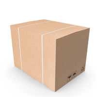 Cardboard Box 01 PNG & PSD Images