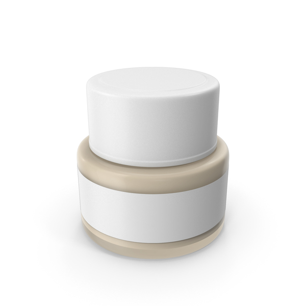 Cosmetic Cream Bottle White PNG & PSD Images
