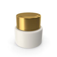 Cosmetic Cream Bottle Gold PNG & PSD Images