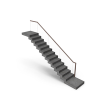 Modern Concrete Floating Stair PNG & PSD Images