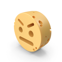 Angry Smiley Face Cheese PNG & PSD Images