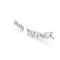 Foil Balloon Words BON VOYAGE Silver PNG & PSD Images