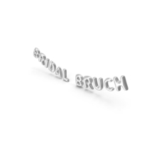 Foil Balloon Words Bridal Bruch Silver PNG & PSD Images