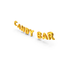 Foil Balloon Words Candy Bar Gold PNG & PSD Images