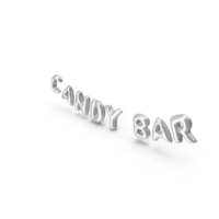 Foil Balloon Words Candy Bar Silver PNG & PSD Images