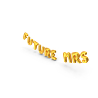 Foil Balloon Words Future Mrs Gold PNG & PSD Images
