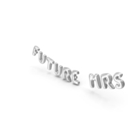 Foil Balloon Words Future Mrs Silver PNG & PSD Images