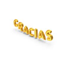 Foil Balloon Words GRACIAS Gold PNG & PSD Images