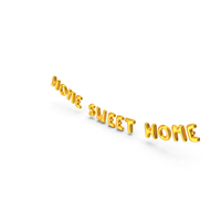 Foil Balloon Words Home Sweet Home Gold PNG & PSD Images