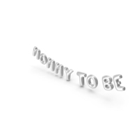 Foil Balloon Words Mommy to Be Silver PNG & PSD Images